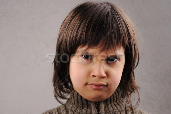 Uczeń mądry dziecko rok starych mimiki Zdjęcia stock © zurijeta