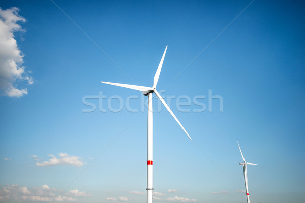 Wind farm against  blue sky Stock photo © zurijeta