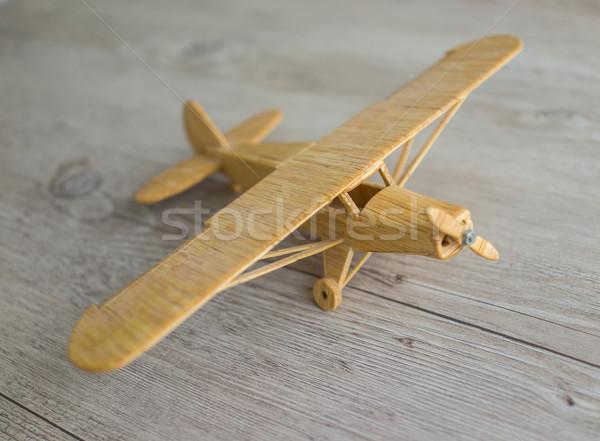 Wooden toy airplane Stock photo © zurijeta