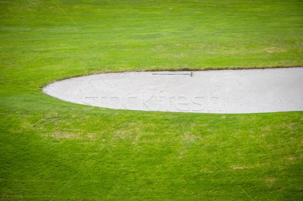 Golfbaan golf sport groene club bal Stockfoto © zurijeta