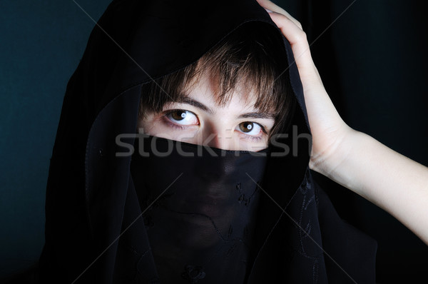 portrait of a young woman with veil Stock photo © zurijeta