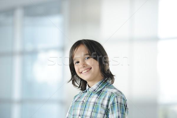 Cute peu garçon portrait Kid Photo stock © zurijeta