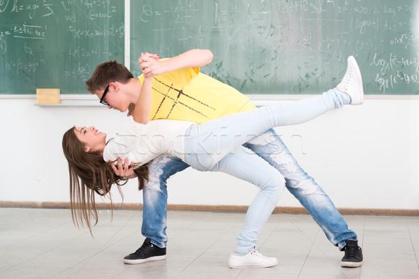 Garçon danse Homme compagne classe Photo stock © zurijeta