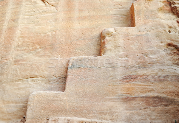 Rocha escada velho cultura Jordânia construção Foto stock © zurijeta