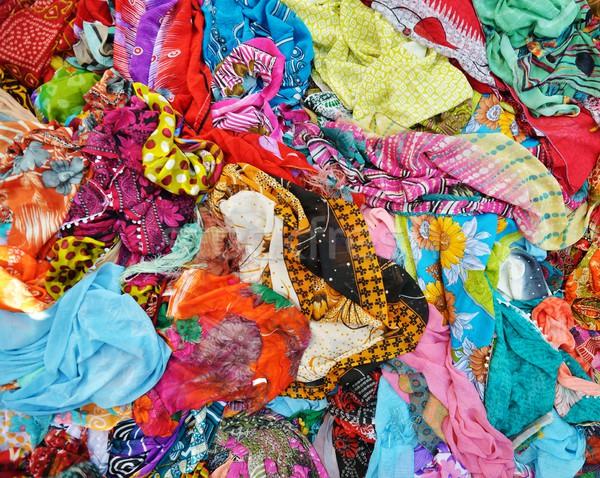 Textiles tejido textura bandera color alfombra Foto stock © zurijeta