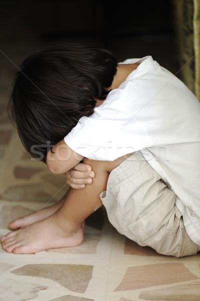 孤独 だけ 子供 子 悲しい 脚 ストックフォト © zurijeta