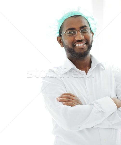 African American Arabic Doctor Stock photo © zurijeta