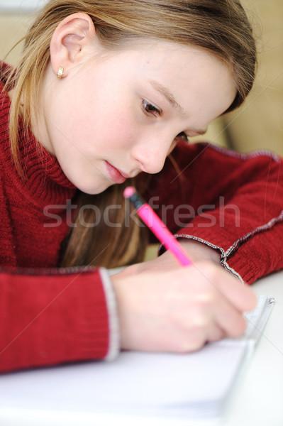 No descripción escuela estudiante ventana educación Foto stock © zurijeta