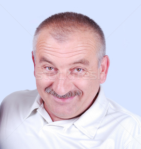 Positive white middle aged man Stock photo © zurijeta