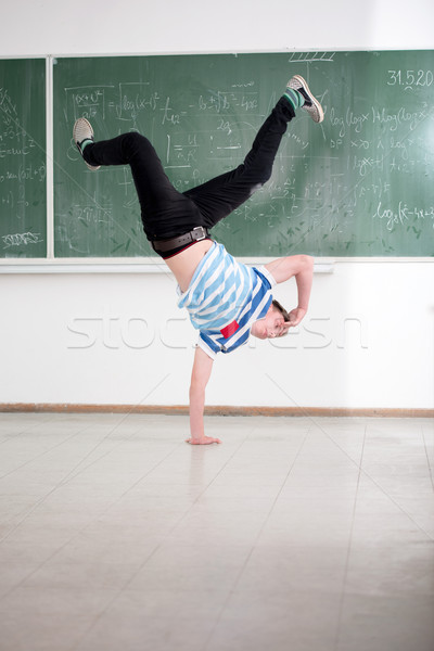 Breakdance in classroom Stock photo © zurijeta