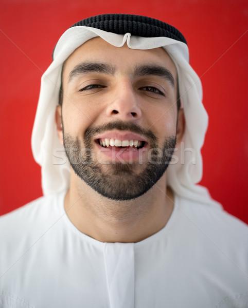 арабский человека Дубай лице модель фон Сток-фото © zurijeta