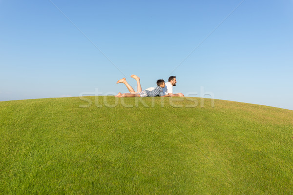 The best summer holiday vacation for father and son Stock photo © zurijeta
