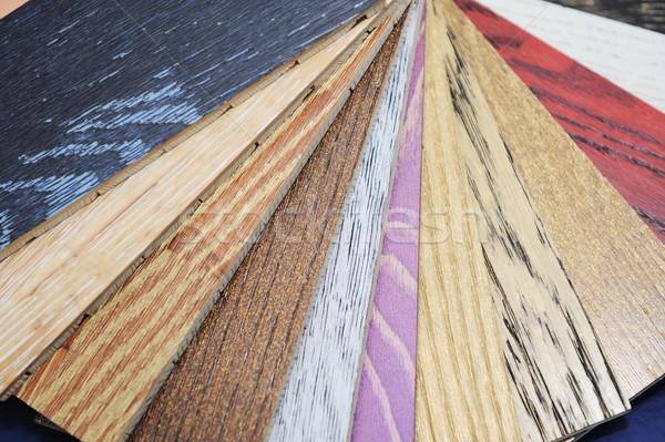 Variedade madeira construção parede projeto Foto stock © zurijeta