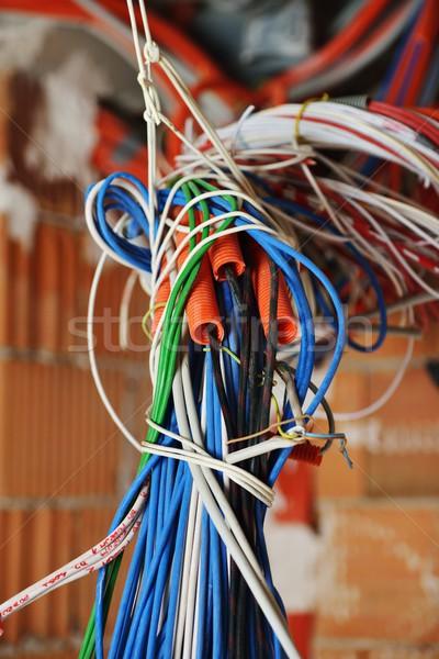 Cabos paredes novo servidor quarto edifício Foto stock © zurijeta