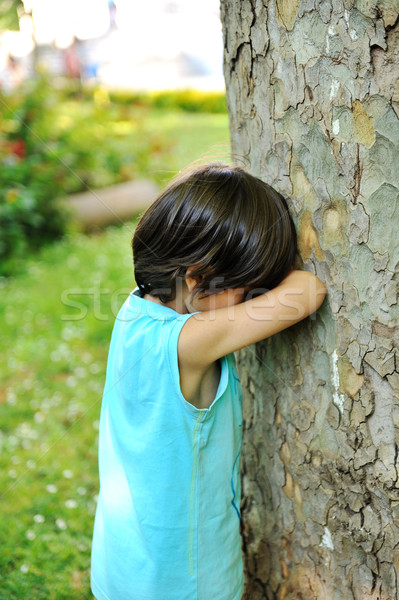 Kid hiding Stock photo © zurijeta
