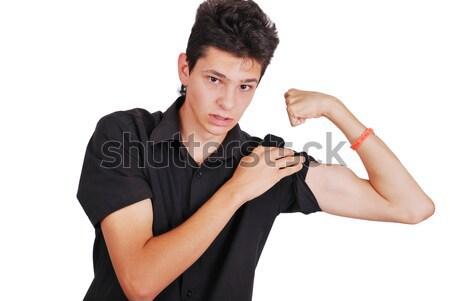 Macho adolescente uomo corpo fitness divertente Foto d'archivio © zurijeta
