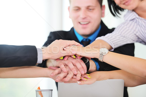 Business people hold their hands together, teamwork and together Stock photo © zurijeta