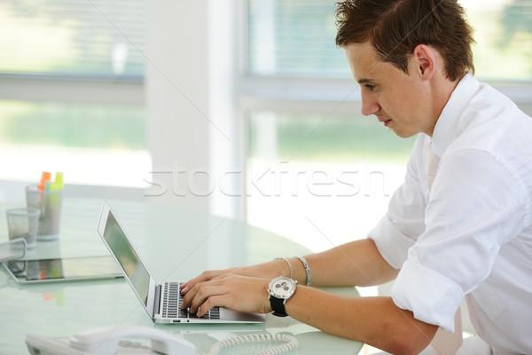 молодые менеджера сидят столе ярко служба Сток-фото © zurijeta