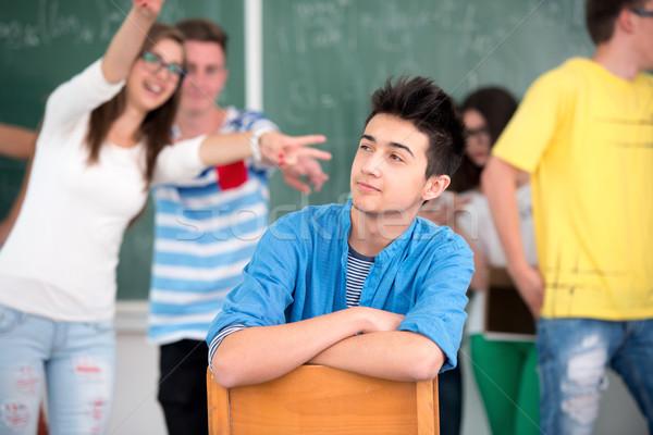 Male high school student smiling Stock photo © zurijeta