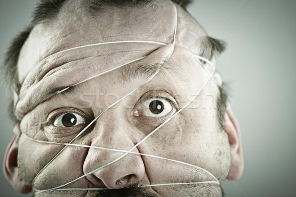 Retrato hombre cara ojos pelo cabeza Foto stock © zurijeta