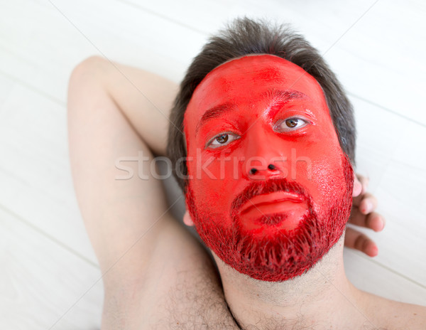 Painting man's face Stock photo © zurijeta