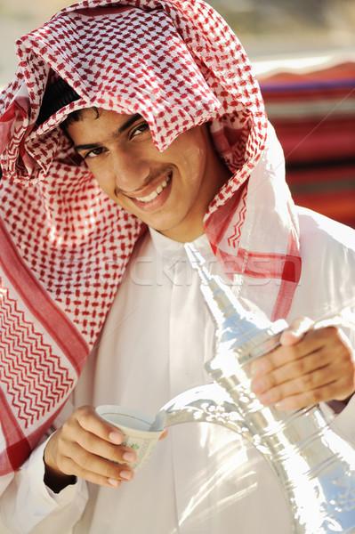 Ready for arabic coffee Stock photo © zurijeta