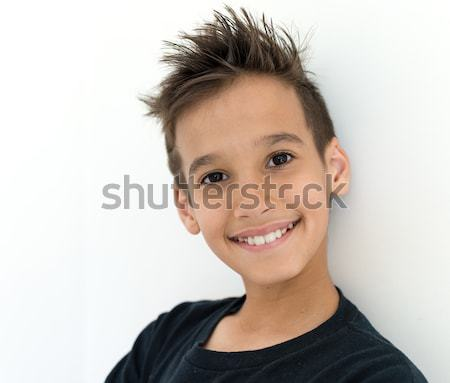 Boy face Stock photo © zurijeta