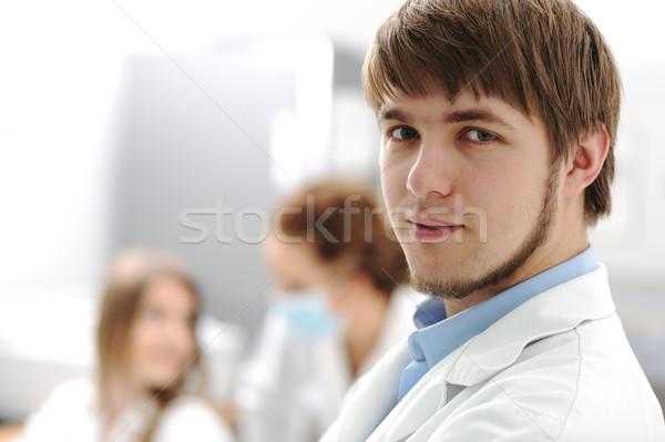 Stockfoto: Binnenkant · moderne · lab · universiteit · ziekenhuis · jonge