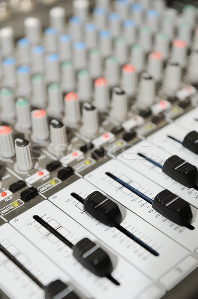 Radio mixer with buttons Stock photo © zurijeta