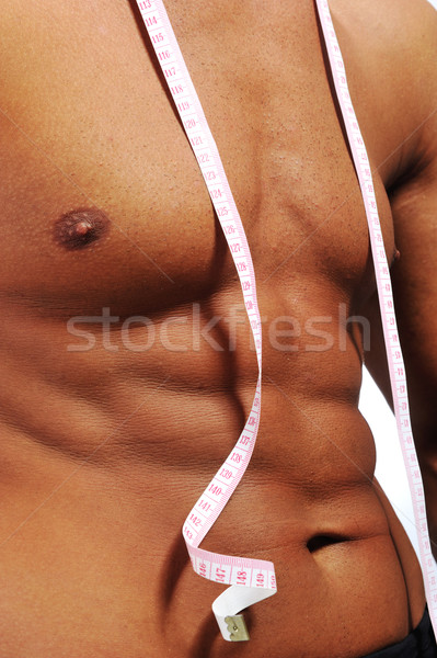 Healthy muscular male body Stock photo © zurijeta