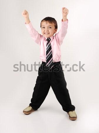 Imádnivaló kicsi gyerek visel lakosztály mosoly Stock fotó © zurijeta
