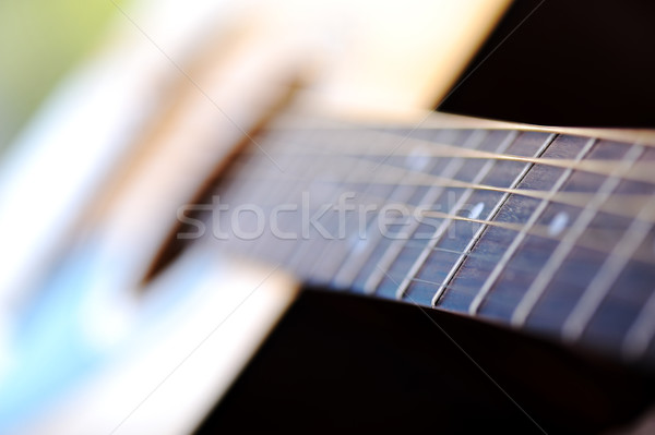 Detail of classic guitar with shallow depth of field Stock photo © zurijeta