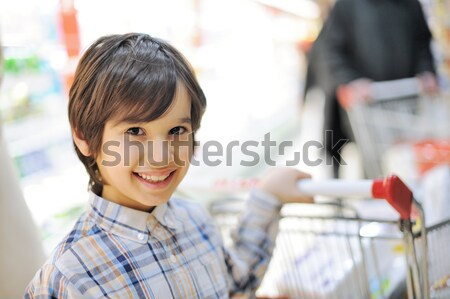 Two brothers in shopping mall, thumbs up Stock photo © zurijeta