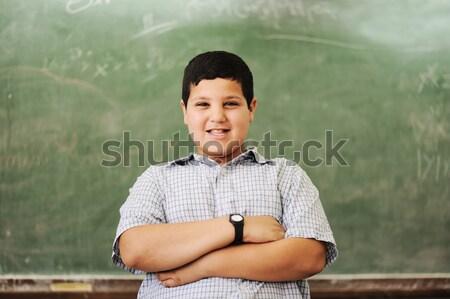 Kinderen school klas glimlach kind achtergrond Stockfoto © zurijeta