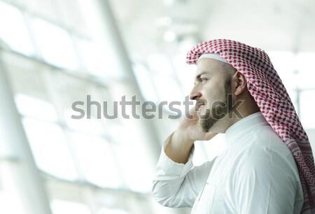 Moderno arabic imprenditore aereo Medio Oriente Foto d'archivio © zurijeta