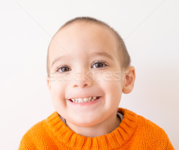 Funny two years old boy with expressive face Stock photo © zurijeta
