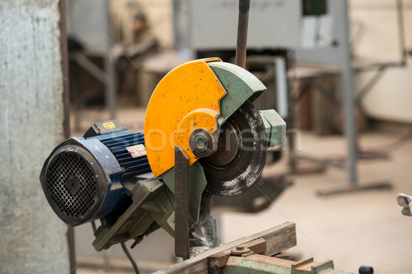Worker welding in industrial background at factory Stock photo © zurijeta