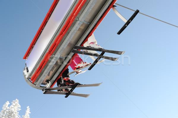 небе лифт лес спорт горные Сток-фото © zurijeta