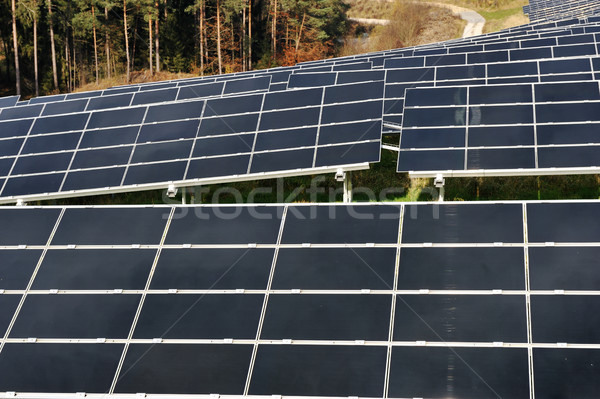 Stock photo: photovoltaic solar panels