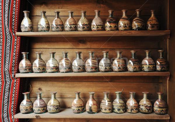 Bottles with sand pictures Stock photo © zurijeta