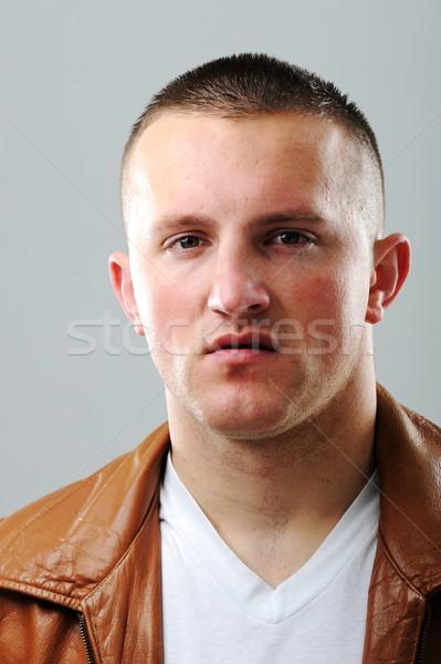 Jóvenes caucásico hombre retrato joven cara Foto stock © zurijeta