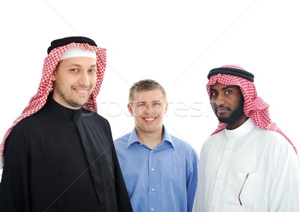 Közel-Kelet emberek arc üzletember férfiak városi Stock fotó © zurijeta