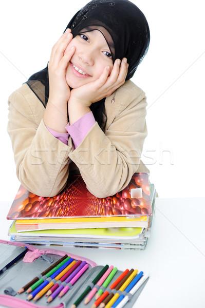 Muslim schoolgirl Stock photo © zurijeta