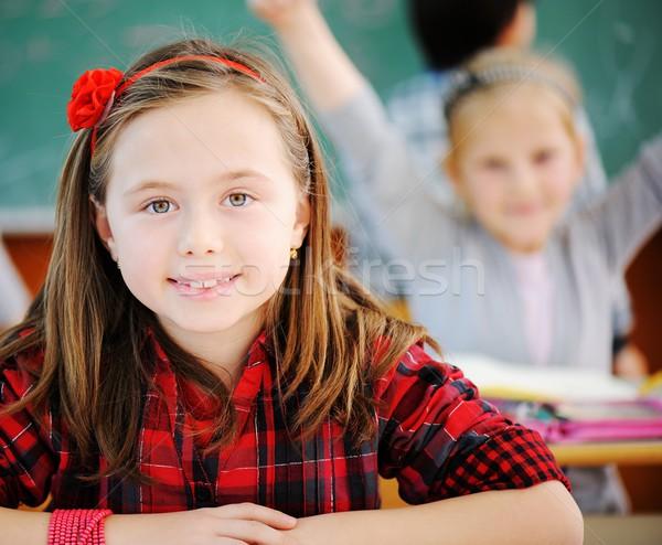Cute klas onderwijs activiteiten meisje Stockfoto © zurijeta