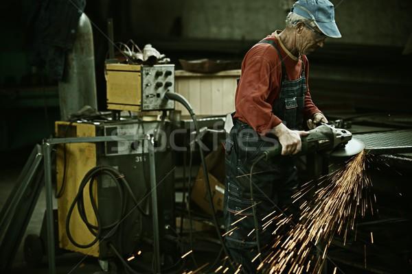 Werknemer ijzer professionele tool industriële Stockfoto © zurijeta