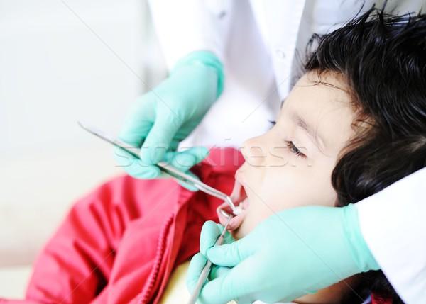 Criança hospital fora leite Foto stock © zurijeta