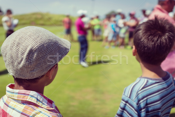 Playing golf at club Stock photo © zurijeta