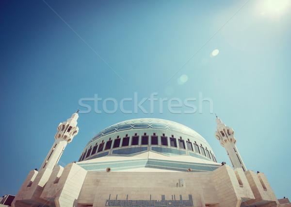 Foto stock: árabe · mesquita · Jordânia · edifício · sol · verão