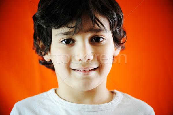 Portret echt kind kid haren Stockfoto © zurijeta