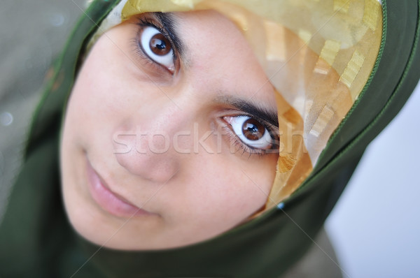 Asian arabe musulmans femme significative vêtements Photo stock © zurijeta
